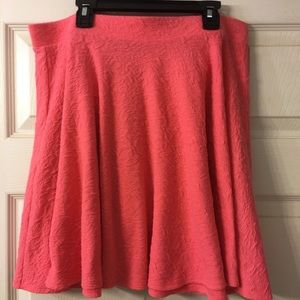 Knit coral skirt